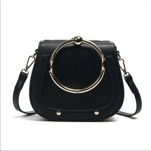 Black Saddle Bag Crossbody